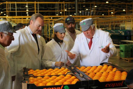 Minnistra de Agricultura visita las instalaciones de COPAL