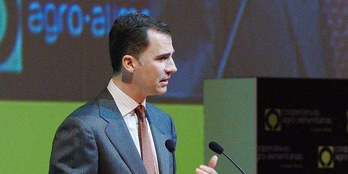 D. Felipe de Borbón en su intervención en el acto de apertura del VI Congreso de Cooperativas Agro-alimentarias de España