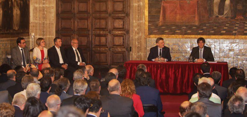 Puig y Puigdemont reivindican la urgencia de poner en marcha el Corredor Mediterráneo como una infraestructura clave para Europa