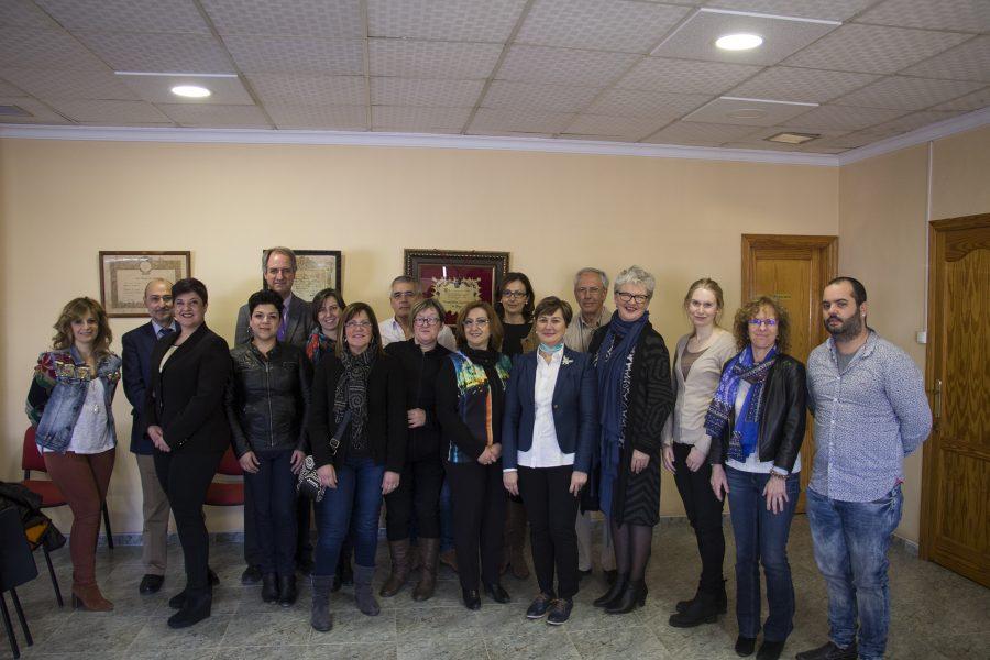 Acto de celebración del Día Internacional de la Mujer en la localidad de Pego (Alicante)