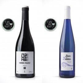 Dos Bacchus de Plata para los vinos de La Baronía de Turis Henri Marc 02-Merlot 2015 y Son 2 Días 2016